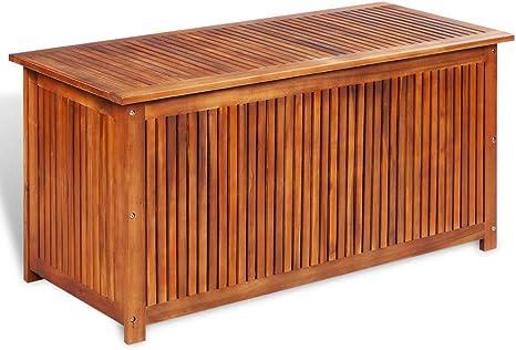 Mewmewcat Auflagenbox Holz Gartenbox Gross Holztruhe Kissenbox Aufbewahrungsbox Garten Gartentruhe Truhenbank Mit Stauraum Sitztruhe 117x50x58 Cm Massivholz Akazie Amazon De Kuche Haushalt