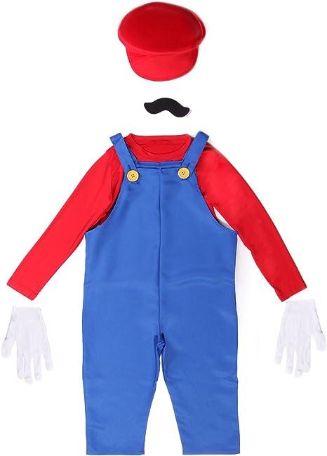 Anladia - Disfraz de Mario Bros para niño Cosplay Dress Fiesta ...