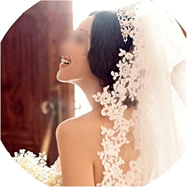 3M 5M Long Cathedral Bridal Wedding Veils with Comb White Ivory Lace Accessories