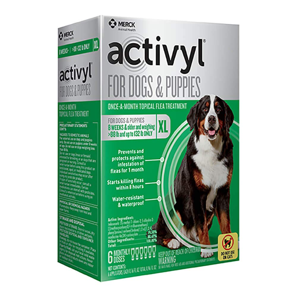 Activyl Extra Large Dogs & Puppies 89-132lbs, 6-pack by Activyl