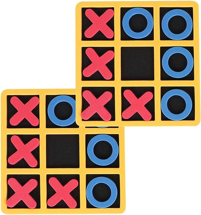 NUOBESTY 2Pcs Niños Juego de Mesa Tic-TAC-Toe Juego de Ingenio Juguetes Gran Regalo para Niñas Niños: Amazon.es: Juguetes y juegos