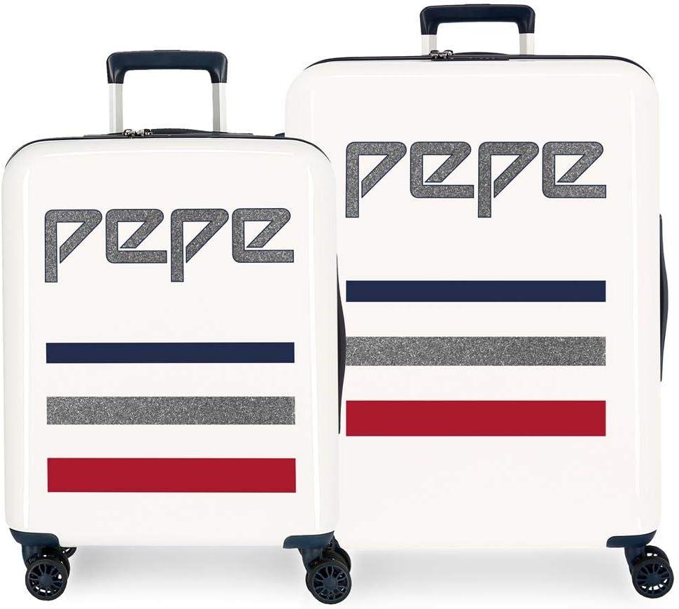 Pepe Jeans, Maleta, 70 cm, 119.4 Liters, Blanco
