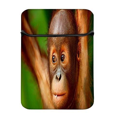 Bebé chimpanese 10 A funda para ordenador portátil de 10.6, con cremallera y built-