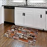 Easy Care Rug Close Up of an Old Exterior Brick Wall Ideal Anti Slip Rug Pad W30'' x H18''