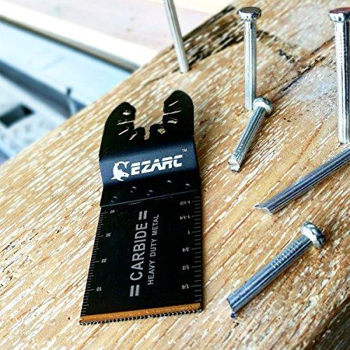 EZARC Oscillating Multitool Blade Carbide Teeth for Hard Material, 1-Pack by EZARC (Image #3)