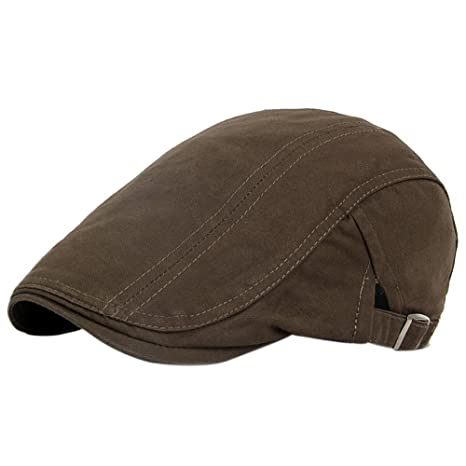 TININNA Unisex Puro Colore Britannici di Stile Gatsby Flat cap Sportivo Cappello  Berretto con Visiera Beret 7291ebb48a2b