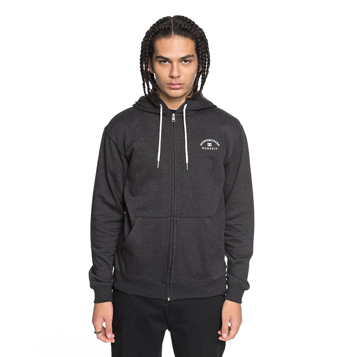 TALLA S. DC Shoes Rebel Zip-Up Hoodie, Hombre
