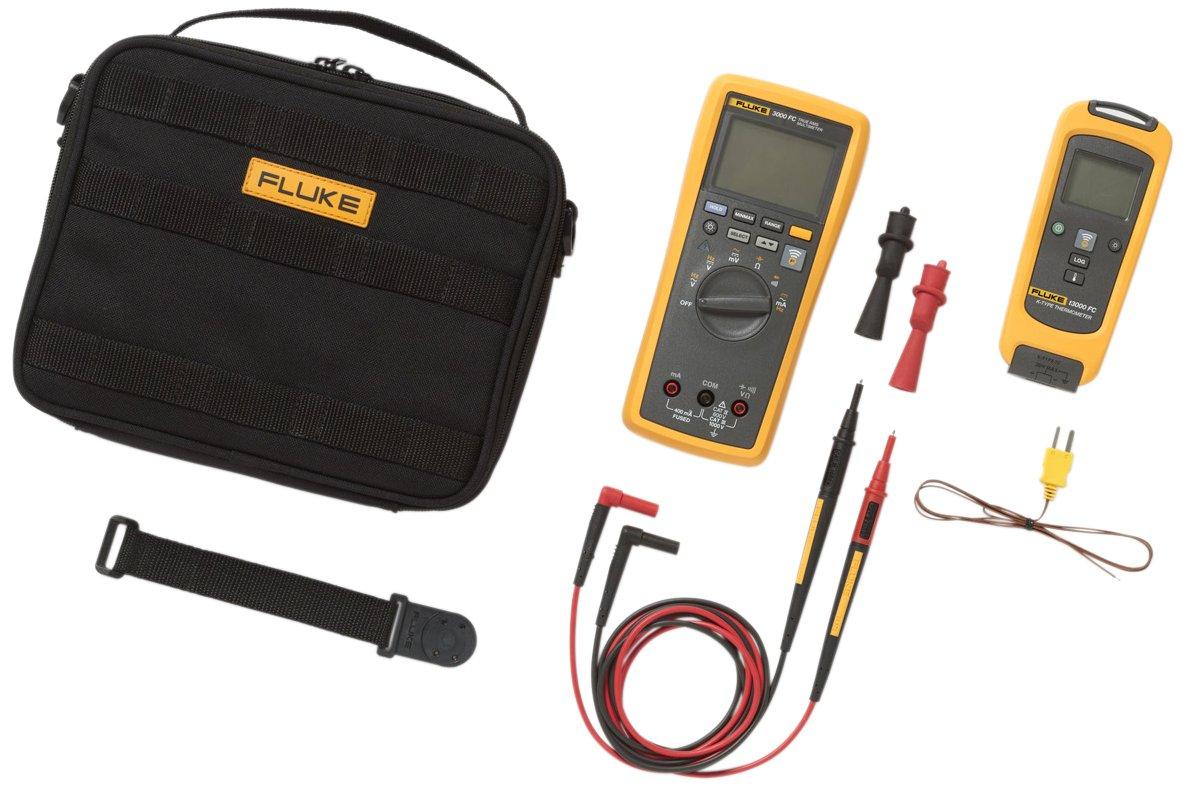 Fluke FLK-T3000 FC KIT Wireless Basic Kit with T3000 K-Type Thermocouple Thermometer
