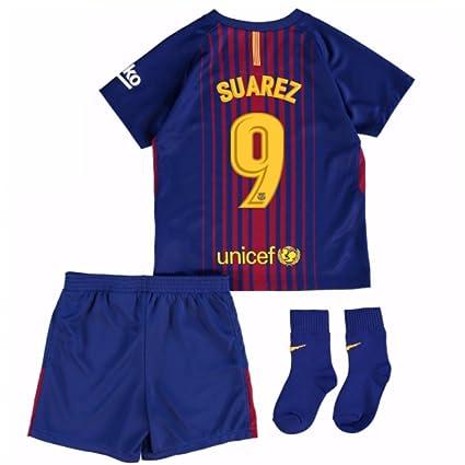 pretty nice ac9cf 25616 Amazon.com : UKSoccershop 2017-18 Barcelona Home Baby Kit ...
