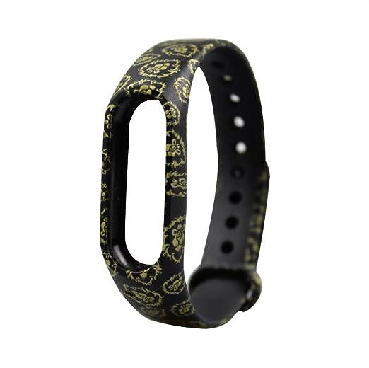 para XIAOMI MI goma de moda banda de 2 relojes inteligentes banda de silicona de reemplazo de la correa de colores de moda fresca: Amazon.es: Relojes