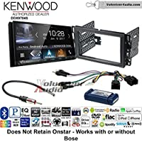 Volunteer Audio Kenwood DDX9704S Double Din Radio Install Kit with Apple Carplay Android Auto Fits 2007-2013 Silverado, Avalanche (Factory amplified sound systems)