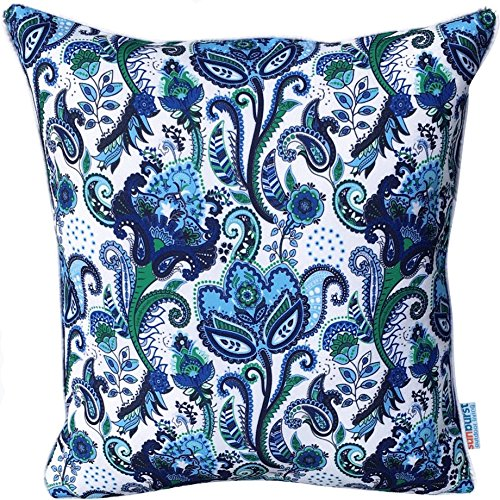 Paisley Pillows Throw Outdoor (Sunburst Outdoor Living 18