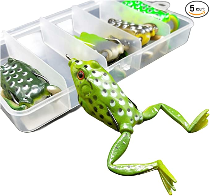 Frog top surface weed-less soft bite fishing lure SWAMP FROG pike UK 1st class