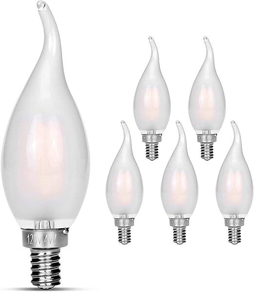 Amazon.com: Candelabra Bombillas LED de 40 W equivalentes ...
