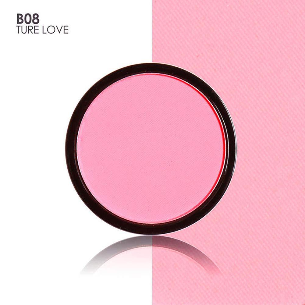 Blusher Maserfaliw Fashion Single Color Matte No Smudge Women Cheek Blush Makeup Powder Palette - B08#