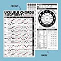 """Ukulele Chords Cheatsheet Laminated and Double Sided Pocket Reference 4""""x6"""" Best Music Stuff"""
