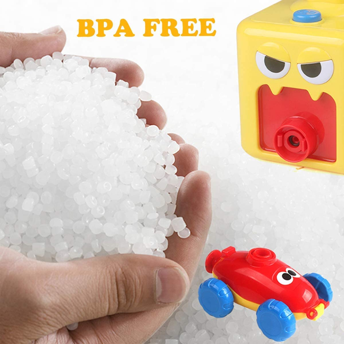 Balloon Powered Car Toy for Kids Inflatable Balloon Pump Cars Racer Kit for Boy