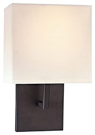 Wonderful George Kovacs GKP470 617 1 Light Wall Sconce W/Off White Linen Shade, Part 14