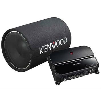 Kenwood CM cilíndrico Subwoofer y amplificador de 2 canales