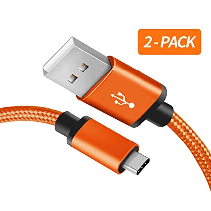 for Samsung Galaxy S10 Charger, (2-Pack 3FT) Benicabe USB Type C Samsung Adaptive Fast Charging Cable Nylon Braided Cord for Samsung Galaxy S10e / ...