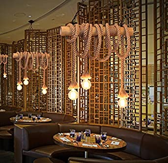 Buy Importerd American Vintage Simple Restaurant Bar Rope Chandelier Creative Personality Cafe Decoration Bamboo Chandelier Free Shipping Online At Low Prices In India Amazon In