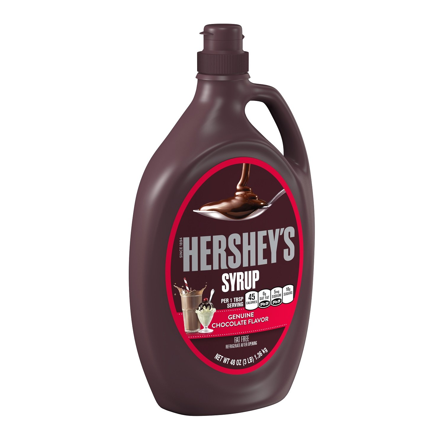 Amazon.com : HERSHEY'S Chocolate Syrup, 48 Ounce : Grocery ...