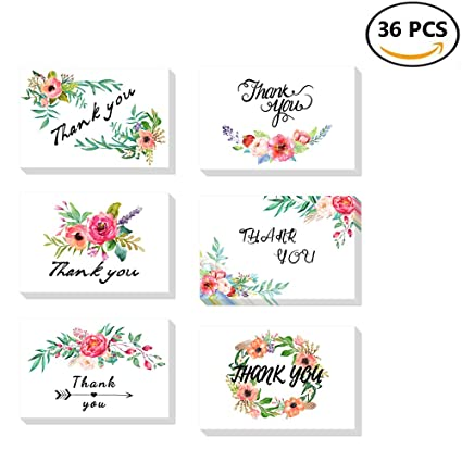 thank you cards with envelopes floral flower thank you note card for weedingbirthday