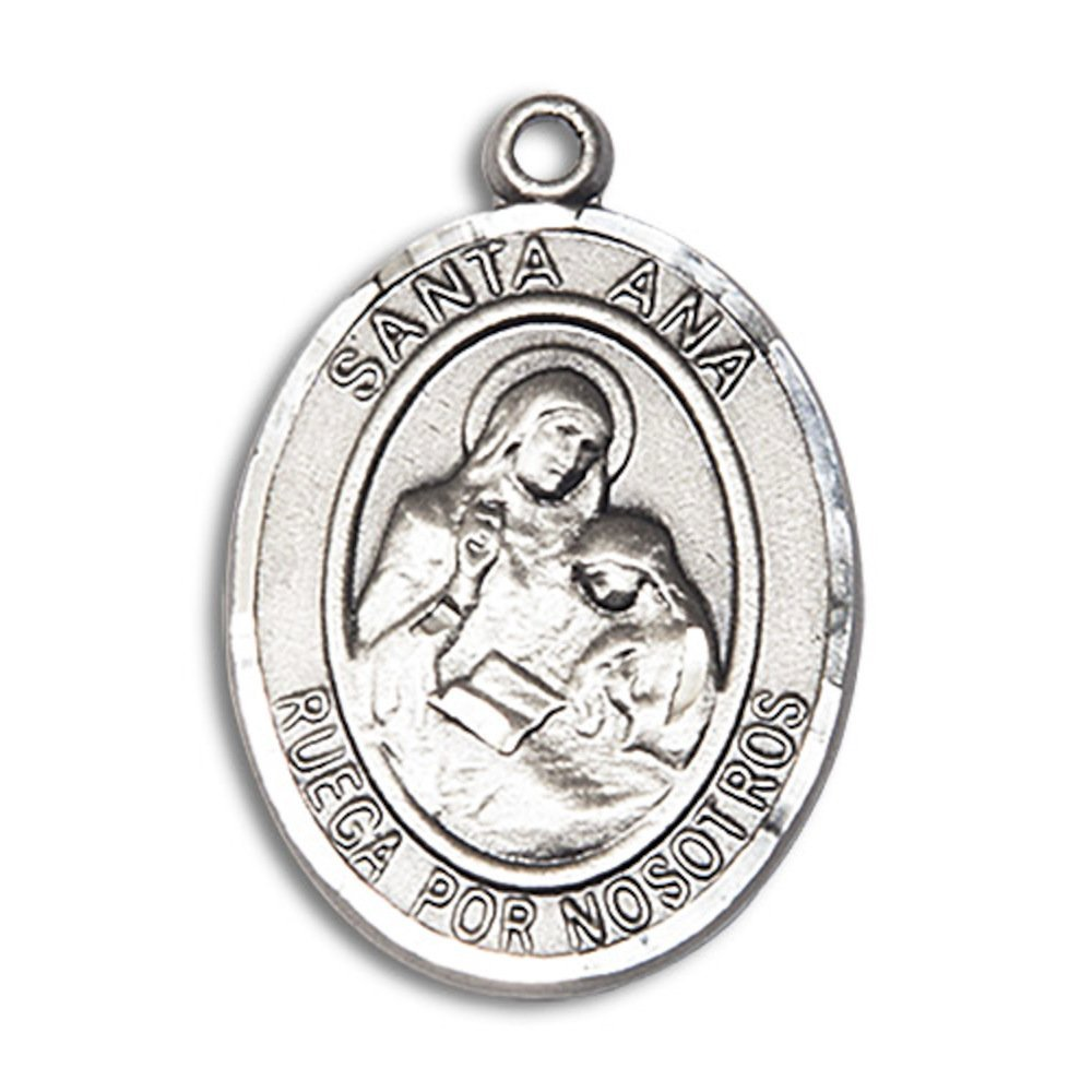 Bonyak Jewelry Santa Ana Hand-Crafted Oval Medal Pendant in Sterling Silver
