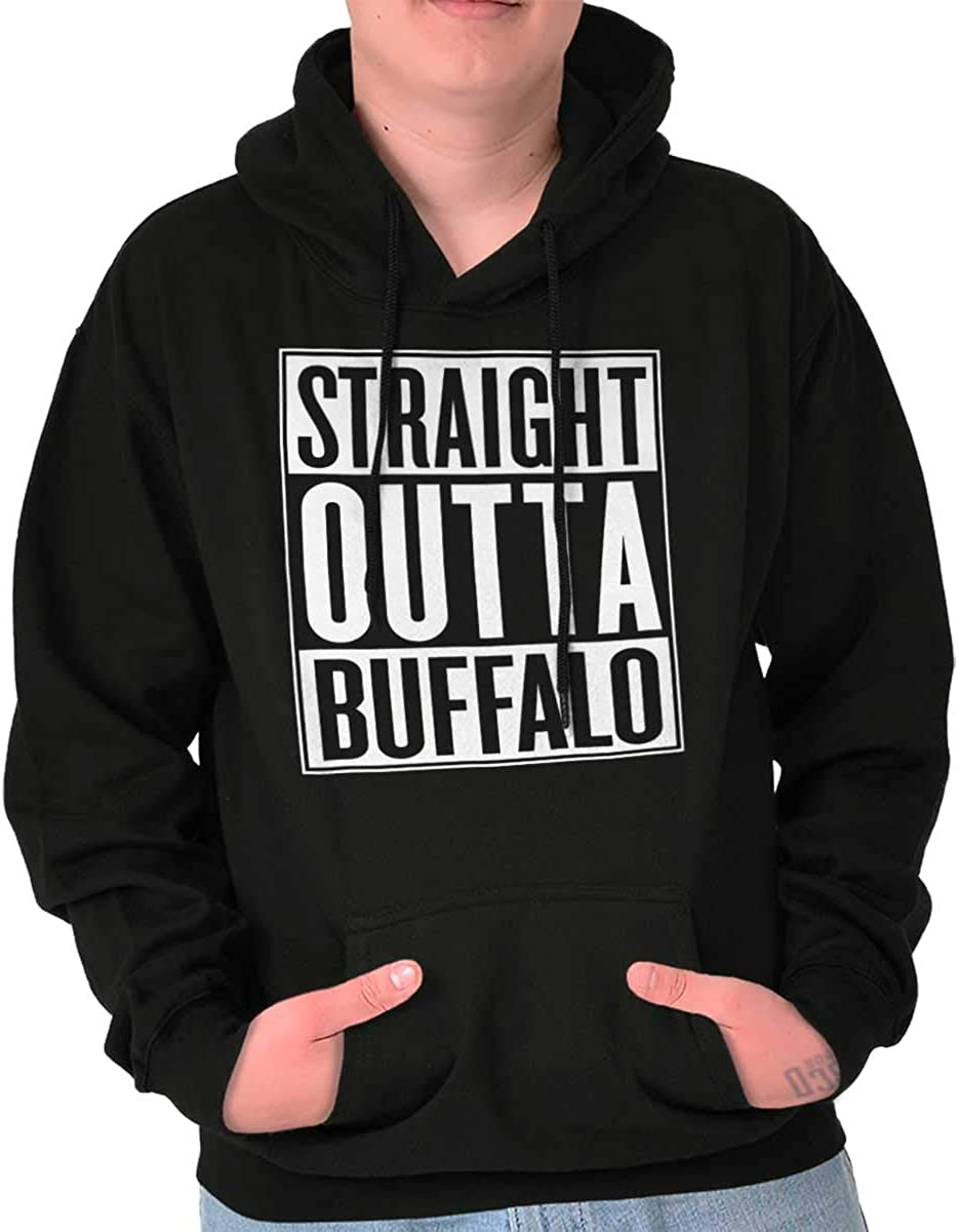 Straight Outta Buffalo New York Souvenir Hoodie