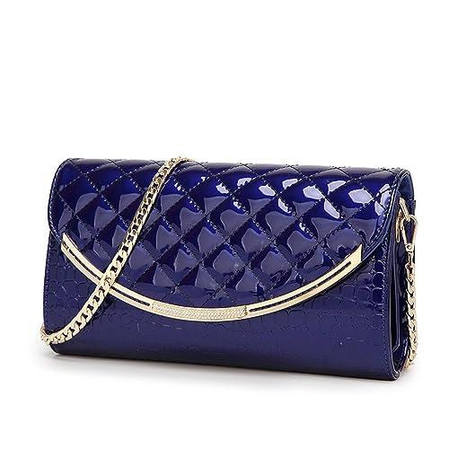 FavoMode - Cartera de mano Mujer, color Azul, talla S: Amazon.es: Zapatos y complementos