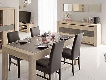 Christophe Salle A Manger Aspect Chene Table 180 X 89 Cm