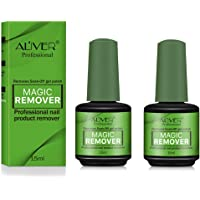 2 Pack Magic Nail Polish Remover, Professional Removes Soak-Off Gel Nail Polish In 3-5 Minutes, Easily & Quickly Remove Nail Art Lacquer by ALIVER [15 ml x 2]