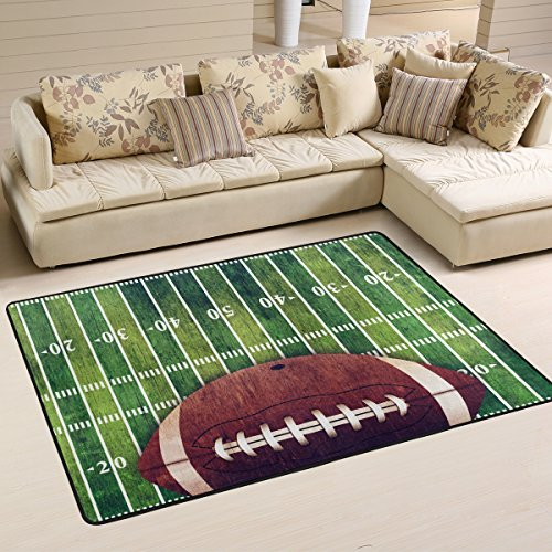 (XiangHeFu Personalized Area Rugs American Football Field And Sport 3'x2' (36x24 Inches) Floor Doormats Mat Soft for Living Room Bedroom Home Kitchen Decorative)