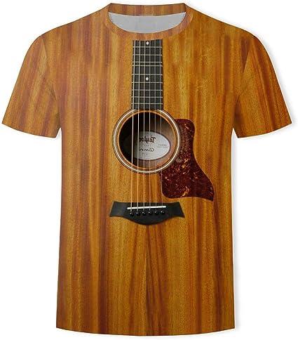 Damonday Moda Gracioso Guitarra 3D Impreso Camiseta para De Los ...