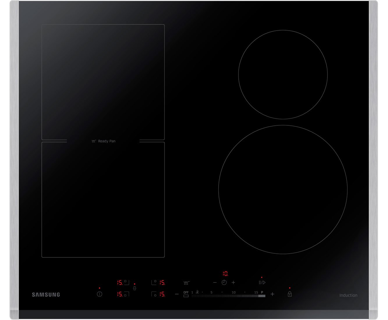 samsung induction cooktop. samsung nz64h37070k built-in 4 zone induction hob: amazon.co.uk: electronics cooktop