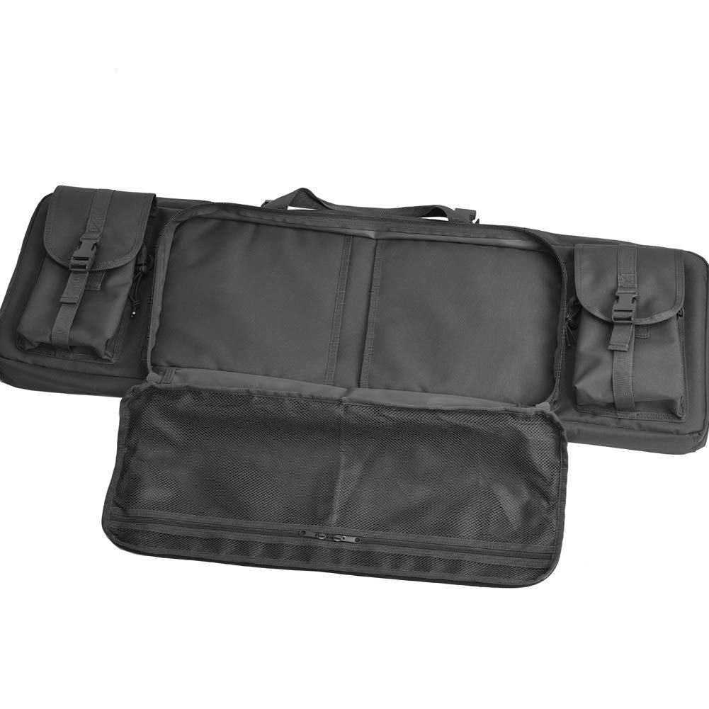 BOW-TAC Double Long Rifle Gun Case Bag Tactical Rifle Backpack Pistol Soft Firearm Transportation Carbine Case - Lockable Compartment, Available Length in 36'' 42'' 46'' by BOW-TAC (Image #7)