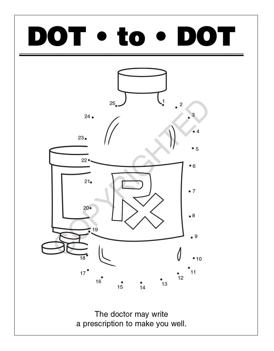 A Trip to The Pharmacy Kid's Coloring & Activity Books in Bulk (Quantity of 250) - Customize with Your Information - Pharmacy Promotional Item by Safety Magnets (Image #4)