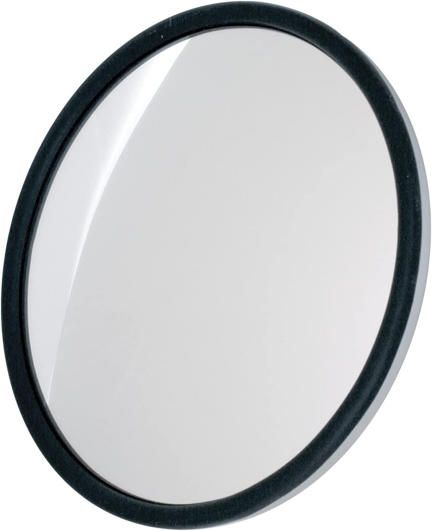 Grand General 33250 Chrome 8 Convex Blind Spot Mirror with L Bracket