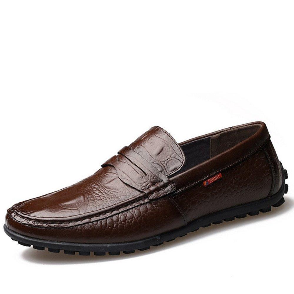 Zapatos Casuales de Cuero de los Hombres de Verano Zapatos Casuales 39 1/3 EU|Marrón
