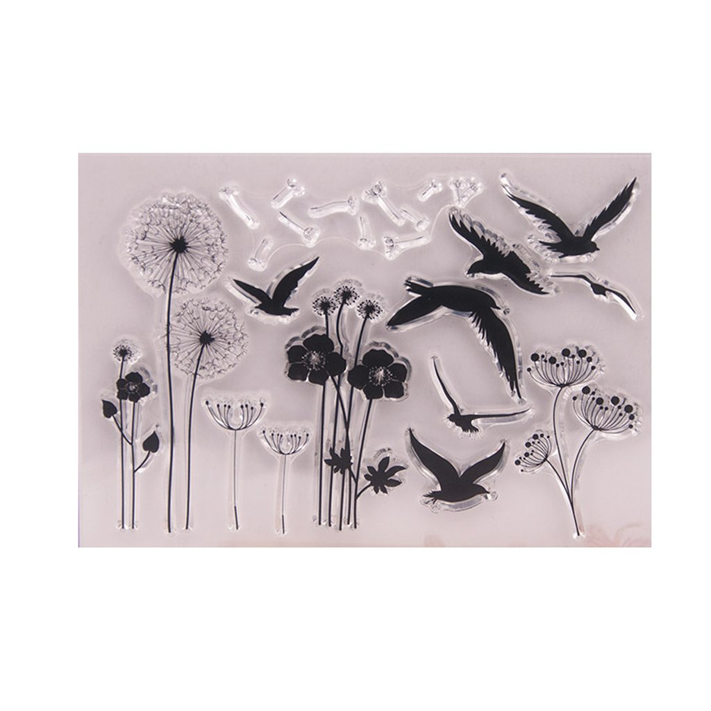 Yuuups Dandelion Clear Silicone Seal Stamp for DIY Album Scrapbooking Photo Card Decor