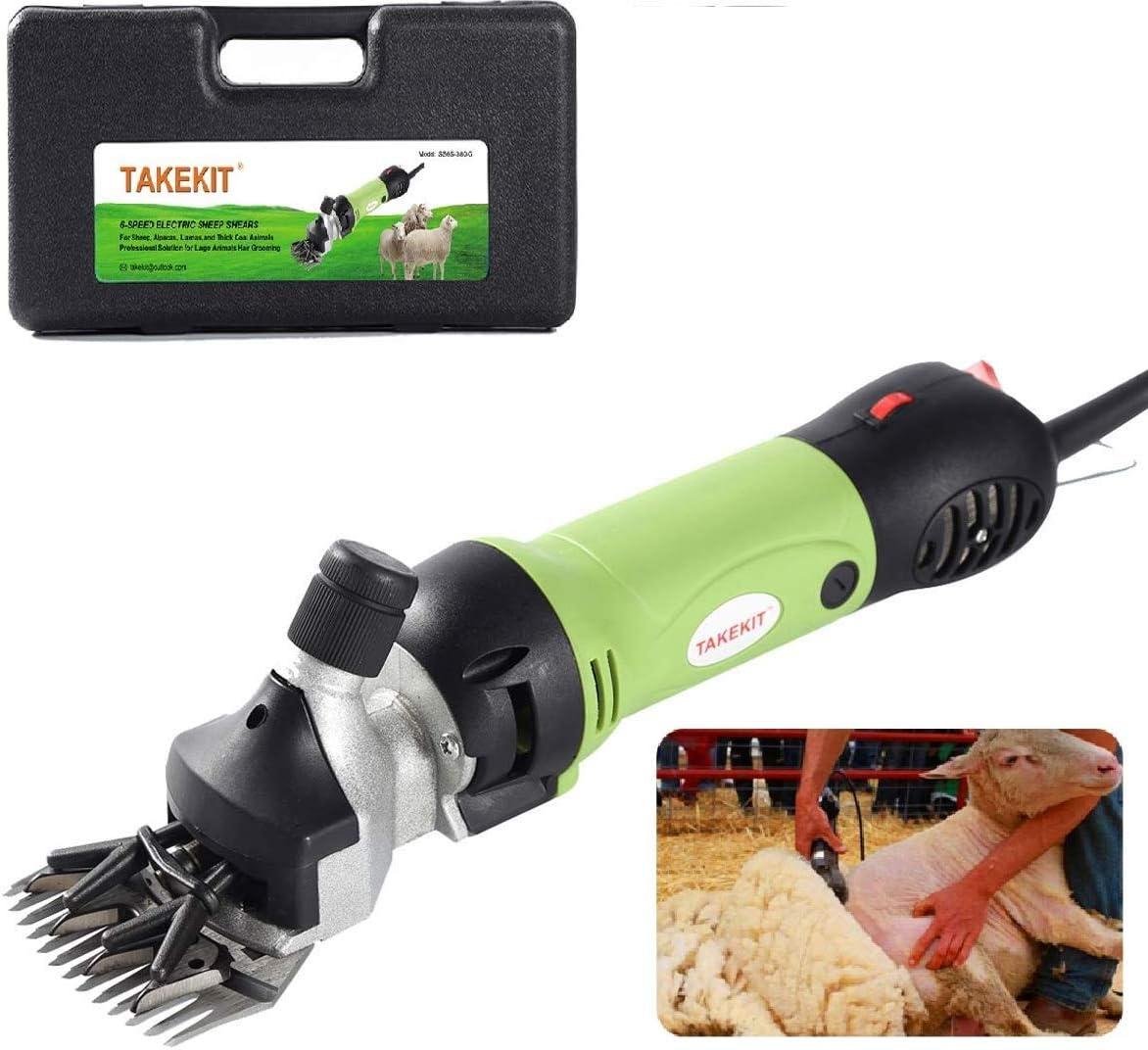 InLoveArts 350W Kit de Máquina Esquiladora de Ovejas Cabras Llamas Cortadora eléctrica de Esquileo Podadoras eléctricas de Aseo de Animales de con Ahorro de Tiempo Ajustable 6 Velocidad
