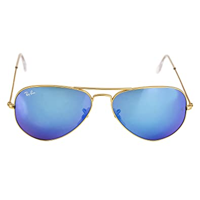 Amazon.com: Ray-Ban Aviator Large Metal Sunglasses RB3025- Matte ...