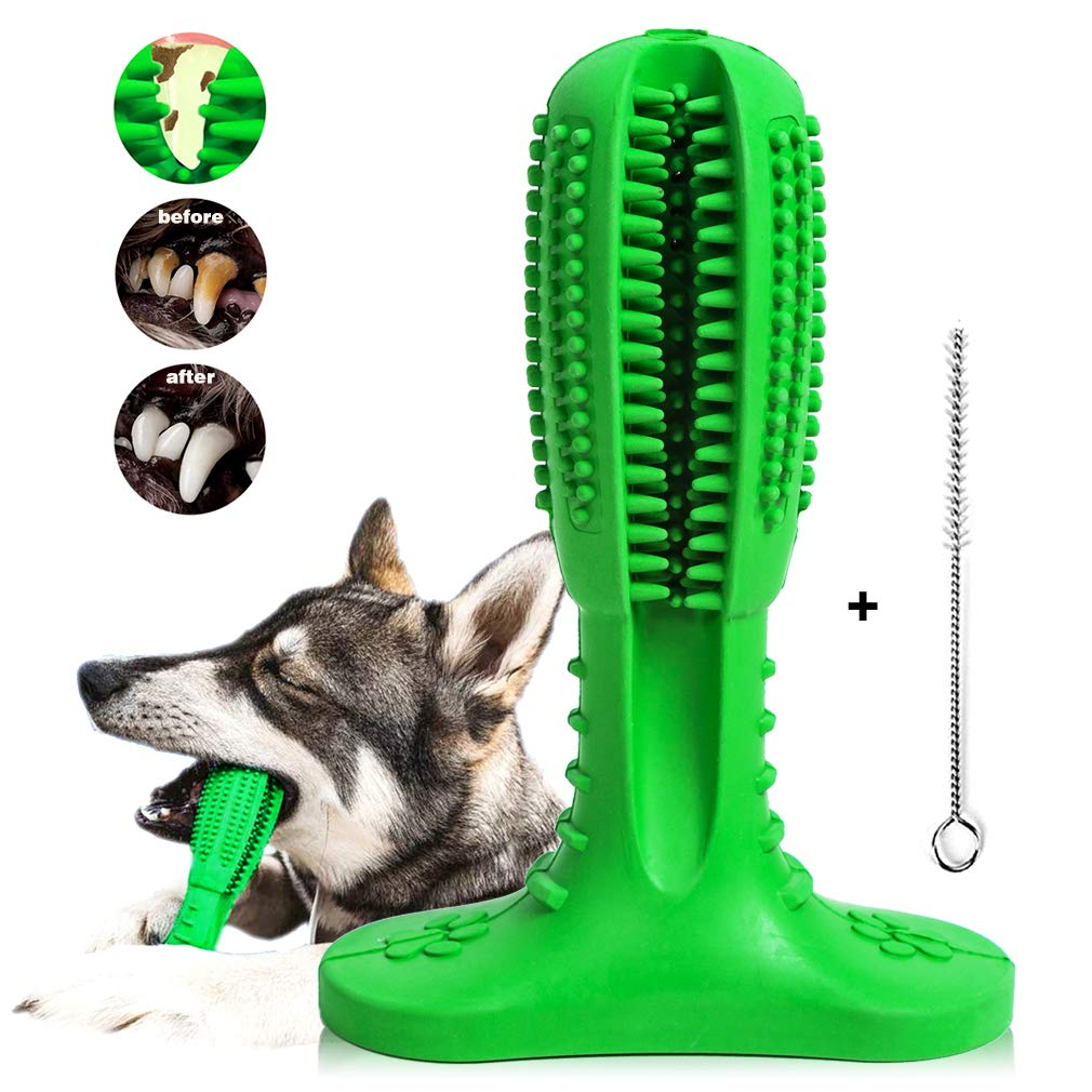 Dog Toothbrush Teeth Cleaning Stick - Puppy Dental Care Toothpaste Accessory - Dog Brushing Stick Chew Toy Bite Resistant Funny Gifts for Small and Medium Pets by MeiLiMiYu
