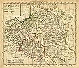 1800 School Atlas | La Pologne avec ses demenbremens. (A Paris, chez Delamarche, Geogr., ca. 1800) | Antique Vintage Map Reprint