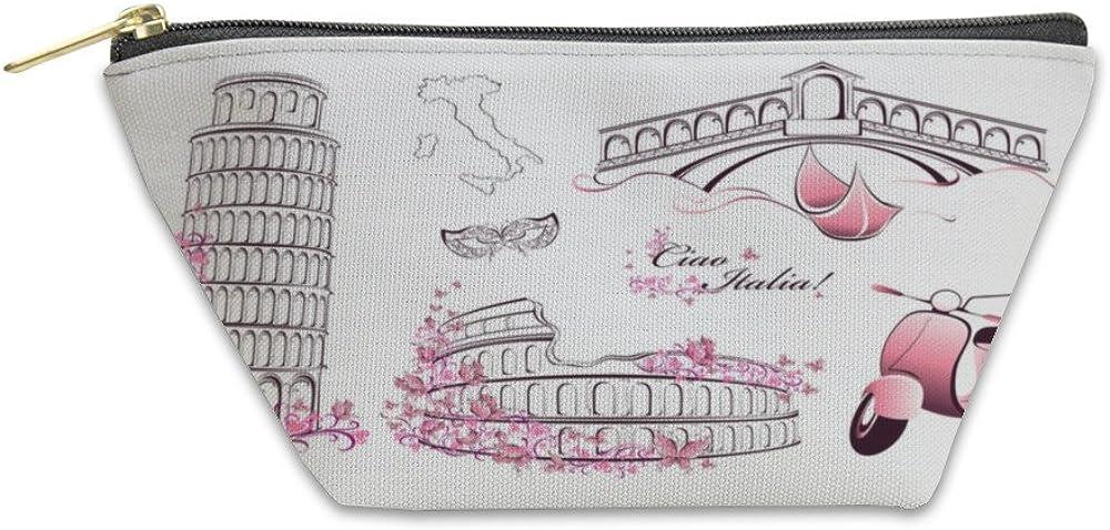 Pisa Tower Building Women Coin Purses Beautiful Girl Mini Wallet Card Holder Bag
