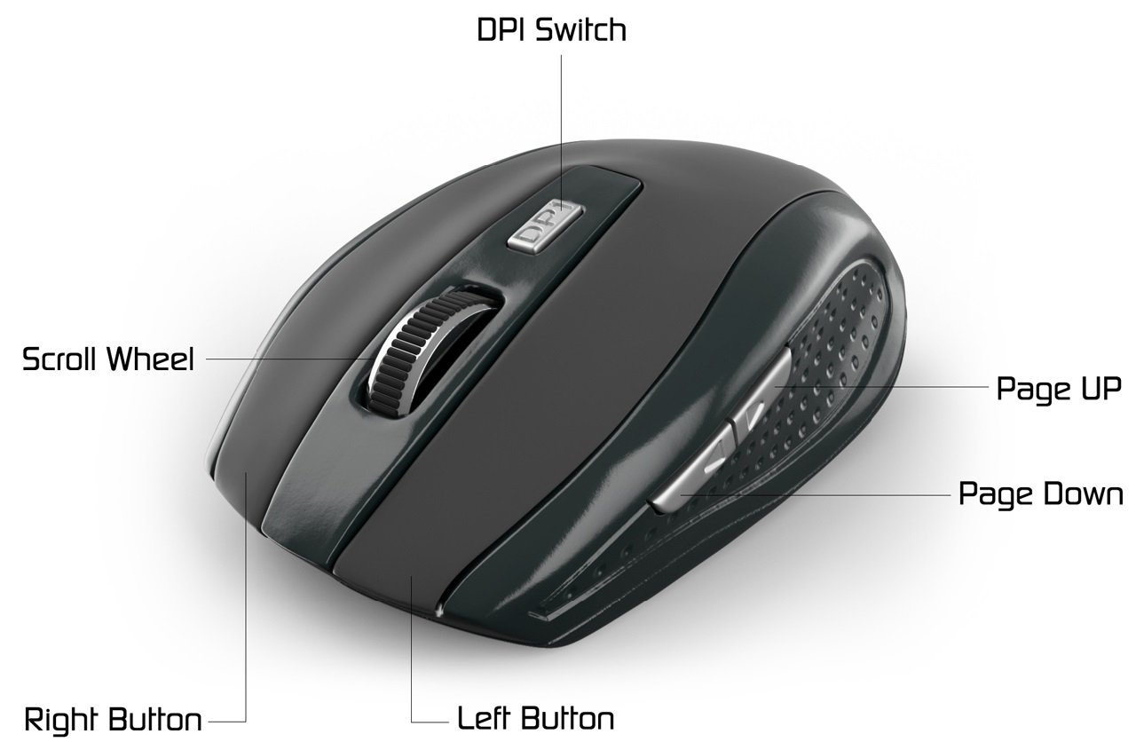 OfficeTec 2.4GHz Wireless Keyboard And Mouse Combo (KB101) by OfficeTec (Image #5)