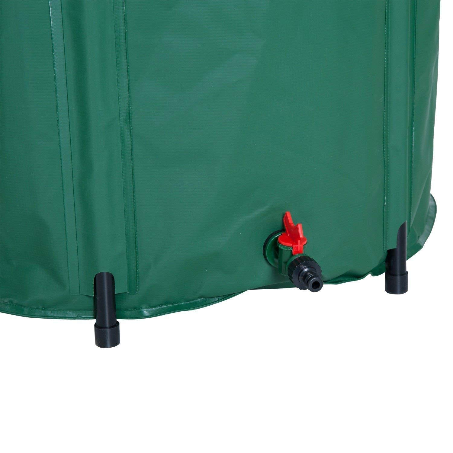 F.S.M. New 100L 225L 300L Outdoor Foldable Water Butt Bucket PVC Compressible Rain Barrel for Shower Bathing - M by F.S.M.
