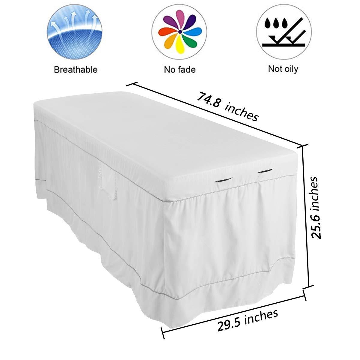 Cotton Massage lines Massage Table Sheet Set (Smooth White)