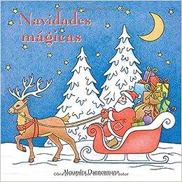 navidades magicas pintar y relajarse un libro para colorear
