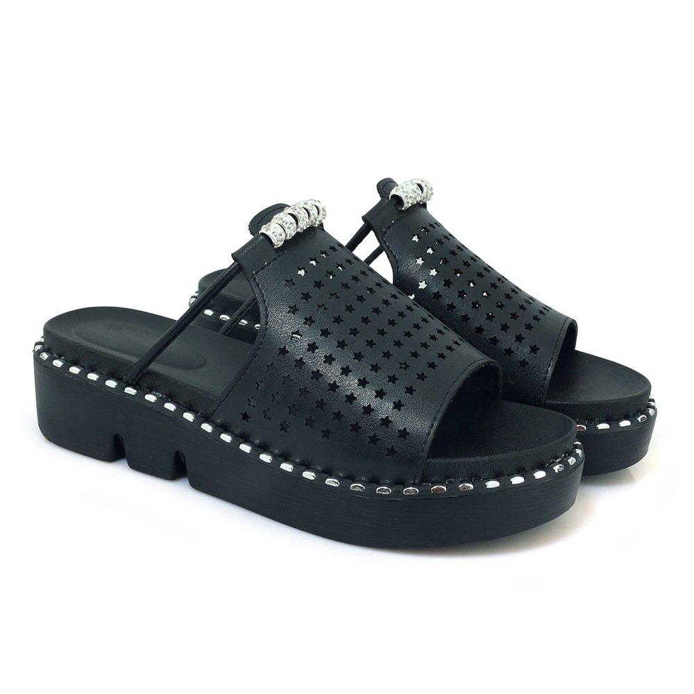 Sandales à décontractées B07CMH27RR Pantoufles pour Femmes, Chaussures à Talons, Pantoufles Noir fbbd13c - fast-weightloss-diet.space